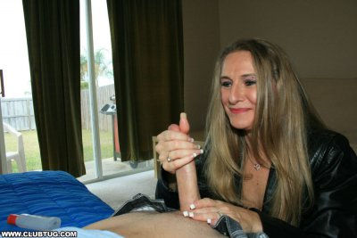 Mom Sara James Makes This Dude's Huge Dick Until It Bursts Hard With Her Skilfull Hands
