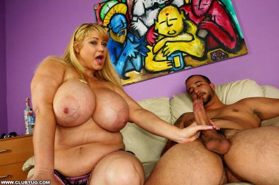 Blond Slut With Really Big Fun Bags Gives A Wild Hand Job