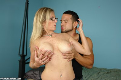 Mrs. Jameson is a gorgeous blonde cougar, who maybe in her mid 40s but still bears such an amazing tight bod with smooth curves! But the hottest thing on this 40 something cougar is her  bouncy knockers which is just perfect for younger guys wi...