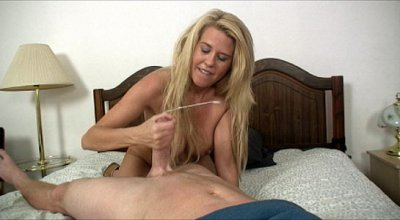 Big Knockered Blonde Mom Rubs A Rock Hard Dick And Makes It Spurt Hard