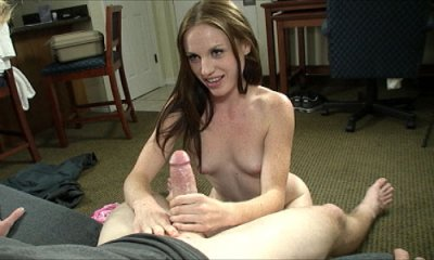 Sweet Teen Kali Jerks Off A Huge Pecker And Gets Cumblasted